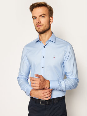 Tommy Hilfiger Tailored Tommy Hilfiger Tailored Cămașă Twill TT0TT08326 Albastru Slim Fit