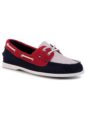 Tommy Hilfiger Tommy Hilfiger Mocasini Classic Suede Boat Shoe FW0FW04880 Bleumarin
