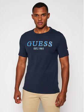 Guess Guess T-Shirt M0BI59 J1300 Tmavomodrá Slim Fit