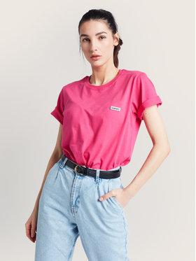 Diamante Wear Diamante Wear T-Shirt Unisex Basic 5405 Różowy Regular Fit