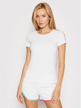 EA7 Emporio Armani EA7 Emporio Armani T-shirt 3KTT12 TJ5LZ 1100 Bijela Regular Fit