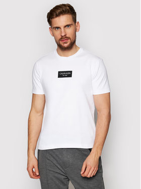 Calvin Klein Calvin Klein T-Shirt Chest Box Logo K10K106484 Biały Regular Fit