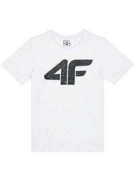 4F 4F T-Shirt HJL21-JTSM010B Biały Regular Fit