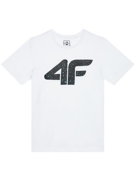 4F 4F T-Shirt HJL21-JTSM010B Bílá Regular Fit