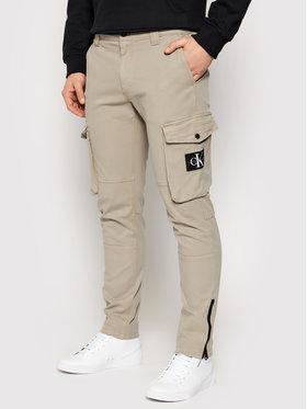 Calvin Klein Jeans Calvin Klein Jeans Medžiaginės kelnės J30J318325 Smėlio Skinny Fit