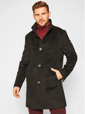 Oscar Jacobson Oscar Jacobson Μάλλινο παλτό Storviker 7154 9049 Μαύρο Regular Fit