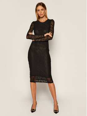 Versace Jeans Couture Versace Jeans Couture Každodenní šaty D2HZB426 Černá Slim Fit