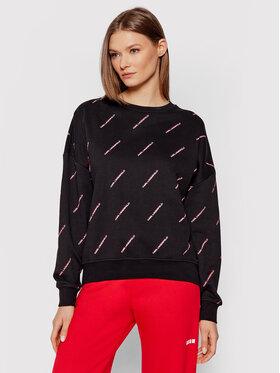 KARL LAGERFELD KARL LAGERFELD Sweatshirt 215W1802 Schwarz Relaxed Fit