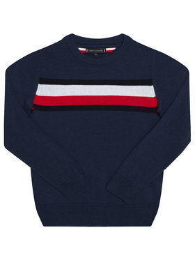 Tommy Hilfiger Tommy Hilfiger Pulover Essential Th Warm KB0KB06070 D Bleumarin Regular Fit