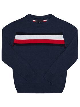 Tommy Hilfiger Tommy Hilfiger Sweter Essential Th Warm KB0KB06070 D Granatowy Regular Fit