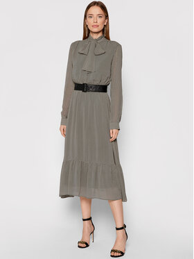 Marella Marella Sukienka koszulowa Sanremo 32262118 Brązowy Regular Fit