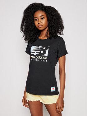 New Balance New Balance T-shirt Essentials Field Day WT11507 Nero Athletic Fit