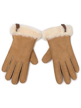 Ugg Ugg Guanti da donna W Shorty Glove W Leather Trim 17367 Marrone