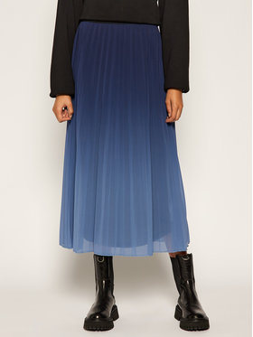 Desigual Desigual Plisovaná sukňa Darwin 20WWFW17 Tmavomodrá Regular Fit