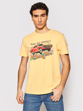 Wrangler Wrangler T-Shirt Cowboy W7AVGFA11 Pomarańczowy Regular Fit