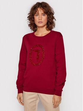 Trussardi Trussardi Majica dugih rukava 56F00169 Tamnocrvena Regular Fit