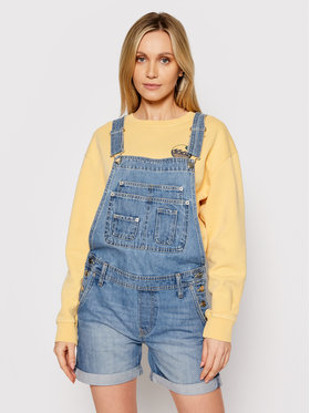 Pepe Jeans Pepe Jeans Kelnės su petnešomis ARCHIVE Abby Fabby PL230332 Mėlyna Regular Fit