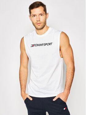 Tommy Sport Tommy Sport Tank top Logo Training S20S200358 Biały Regular Fit