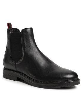 Gino Rossi Gino Rossi Členková obuv s elastickým prvkom MB-HAVR-01 Čierna