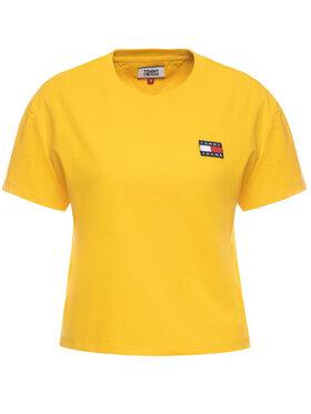 Tommy Jeans Tommy Jeans Póló Badge DW0DW06813 Sárga Regular Fit