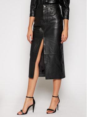 One Teaspoon One Teaspoon Kožená sukně Lola 23510 Černá Slim Fit