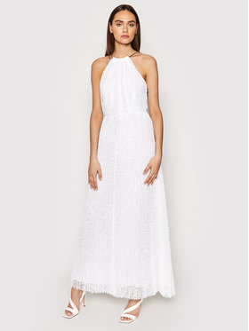 MICHAEL Michael Kors MICHAEL Michael Kors Večerné šaty MS1806K1D0 Biela Regular Fit