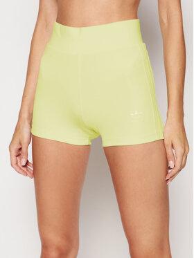 adidas adidas Szorty sportowe Tennis Luxe Booty H56462 Żółty Slim Fit
