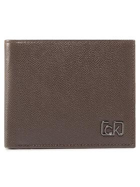 Calvin Klein Calvin Klein Duży Portfel Męski Biflod 5Cc W/ Coin K50K505959 Brązowy