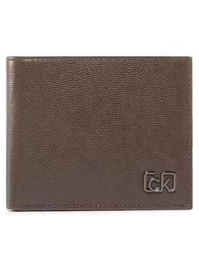 Calvin Klein Calvin Klein Velká pánská peněženka Biflod 5Cc W/ Coin K50K505959 Hnědá