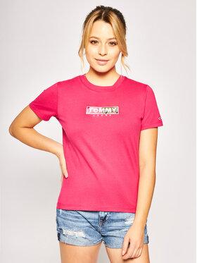 Tommy Jeans Tommy Jeans T-Shirt Camo Square DW0DW08054 Różowy Regular Fit