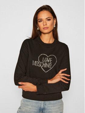 LOVE MOSCHINO LOVE MOSCHINO Felpa W630407E 2204 Nero Regular Fit