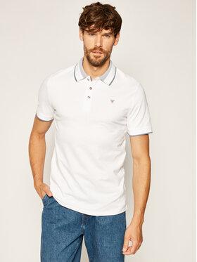 Guess Guess Тениска с яка и копчета Horatio M0YP60 K7O60 Бял Slim Fit