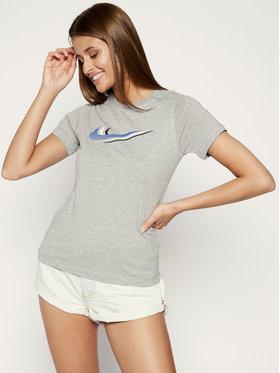NIKE NIKE T-Shirt Sportswear Triple Swoosh Kids' Tee CU4572 Γκρι Standard Fit