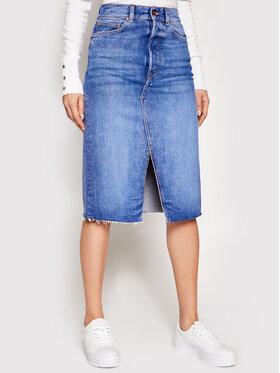 Guess Guess Jeans suknja W1RD96 D4AM1 Plava Regular Fit