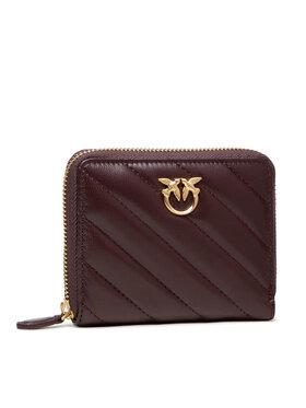 Pinko Pinko Malá dámska peňaženka Taylor V Quilt AI 21-22 PLTT 1P22EY Y7JR Bordová
