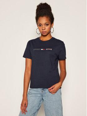 Tommy Jeans Tommy Jeans T-Shirt Tjw Americana Logo Tee DW0DW08486 Tmavomodrá Regular Fit