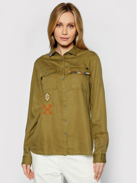 Superdry Superdry Hemd Military W4010154A Grün Regular Fit