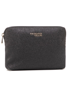 Trussardi Jeans Trussardi Jeans Τσαντάκι καλλυντικών Cloe Beauty Glitter 75W00224 Μαύρο