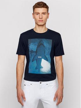 Boss Boss Marškinėliai TNoah 1 50450911 Tamsiai mėlyna Regular Fit