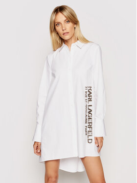 KARL LAGERFELD KARL LAGERFELD Košeľa Embellished Poplin 211W1602 Biela Regular Fit