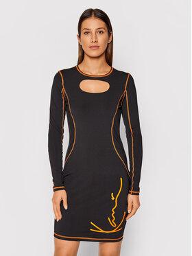Karl Kani Karl Kani Každodenní šaty Signature Cutout 6160561 Černá Slim Fit
