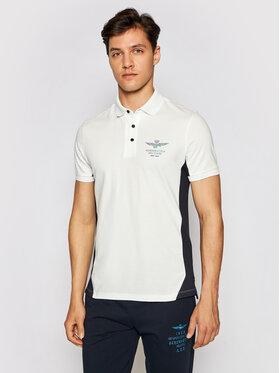 Aeronautica Militare Aeronautica Militare Тениска с яка и копчета 211PO1541P178 Бял Regular Fit