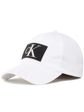 Calvin Klein Jeans Calvin Klein Jeans Шапка с козирка Essentials Cap K60K606890 Бял