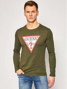 Guess Guess Marškinėliai ilgomis rankovėmis M1RI31 I3Z11 Žalia Slim Fit
