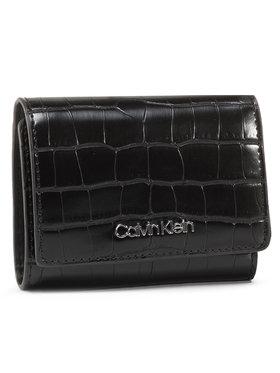 Calvin Klein Calvin Klein Kleine Damen Geldbörse Ck Must Croc Trifold Xs K60K606795 Schwarz