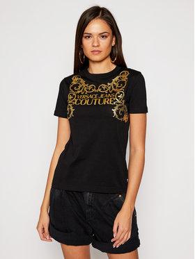 Versace Jeans Couture Versace Jeans Couture Tricou B2HZB7TA Negru Regular Fit