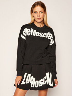 LOVE MOSCHINO LOVE MOSCHINO Sweatshirt W641901M 4055 Schwarz Regular Fit