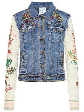 Desigual Desigual Kurtka jeansowa Athlas 21SWED45 Niebieski Slim Fit