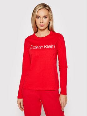 Calvin Klein Calvin Klein Bluzka Core Logo K20K203024 Czerwony Regular Fit