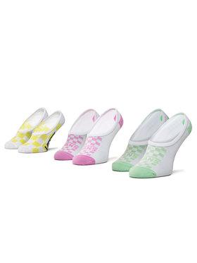 Vans Vans Moteriškų pėdučių komplektas (3 poros) Rainy Day Check Canoodles VN0A4DSR4481 r.37-41 Balta